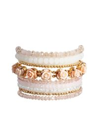 ALDO | Multicolor Fagnant Rose Blush Multipack Bracelets | Lyst
