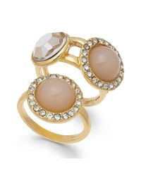 INC International Concepts - Metallic Inc International Concept Gold-tone Stone And Crystal Pave Ring Duo - Lyst