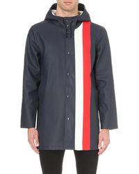 Stutterheim | Blue Stockholm Striped Rain Mac for Men | Lyst