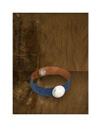 Denim & Supply Ralph Lauren - Blue Suede-Coin Bracelet - Lyst