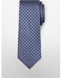 Calvin Klein - Blue White Label Steel Filigree Silk Tie for Men - Lyst