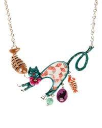 !item - Multicolor Cat Pendant Necklace - Lyst