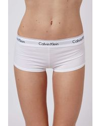 TOPSHOP - Modern Cotton White Shorts By Calvin Klein - Lyst