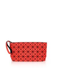 Bao Bao Issey Miyake | Red Prism Basic Faux Leather Wristlet | Lyst