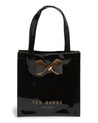 Ted Baker | Black 'small Bow Icon' Tote | Lyst