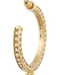 Oscar de la Renta - Metallic Gold-plated, Faux Pearl And Crystal Earrings - Lyst