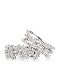 Astley Clarke | Metallic Diamond Triple Wrap Ring | Lyst