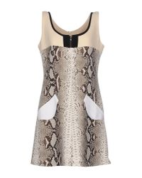 Carven - Multicolor Snake-print Crepe Mini Dress - Lyst