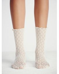Free People | Natural Legale Womens Netted Ankle Sock | Lyst
