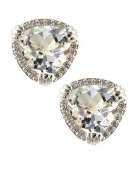 Slane | Calypso White Topaz & Diamond Earrings | Lyst