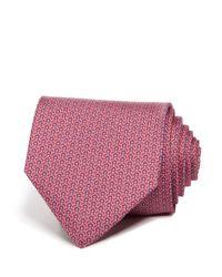Ferragamo - Pink Signature Gancini Classic Tie for Men - Lyst