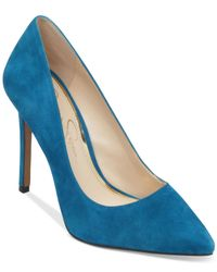 Jessica Simpson | Blue Premer Pumps | Lyst