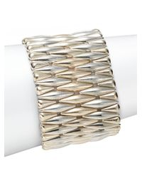 Saks Fifth Avenue | Metallic Diamond-link Stretch Bracelet | Lyst