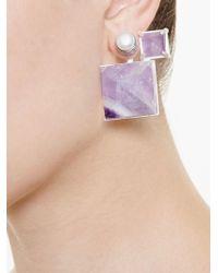 Volha - Multicolor Geometric Earrings - Lyst