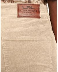 Lauren by Ralph Lauren | Natural Heritage Straight Stretch-corduroy Pant | Lyst