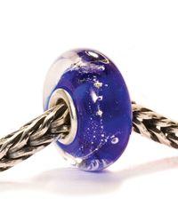 Trollbeads - Blue Milky Way Glass Charm Bead - Lyst