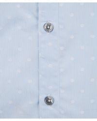 Paul Smith - Light Blue Spotted Fine Stripe Shirt for Men - Lyst