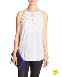 Banana Republic | White Factory Cut-out Halter | Lyst