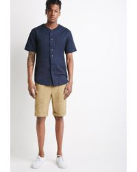 Forever 21 | Natural Cuffed Drawstring Shorts for Men | Lyst