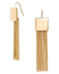 BaubleBar | Metallic 'diana' Fringe Drop Earrings | Lyst