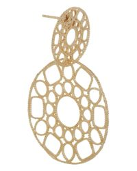 Isharya - Metallic Goldplated Filigree Earrings - Lyst