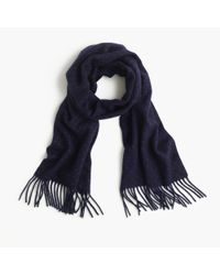 J.Crew | Blue Cashmere Scarf In Dot | Lyst