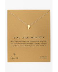 Dogeared | Metallic 'reminder - You Are Mighty' Pyramid Pendant Necklace | Lyst