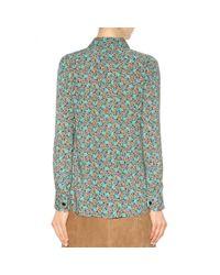 Saint Laurent - Multicolor Floral Print Shirt - Lyst