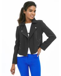 Banana Republic   Black Multi-zip Moto Jacket   Lyst
