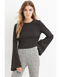 Forever 21 | Black Boxy Crisscross-side Top | Lyst