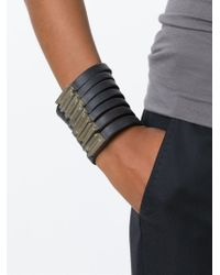Rick Owens | Black Multi Band Bracelet | Lyst