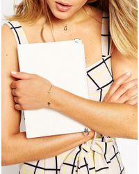 ASOS   Metallic Limited Edition Double Circle Fine Open Cuff Bracelet   Lyst