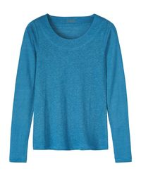 Toast | Blue Linen Long Sleeve Tee | Lyst