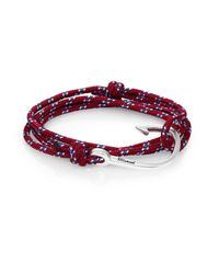 Miansai | Purple Hook Rope Wrap Bracelet | Lyst