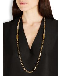 DKNY - Metallic Chambers Gold Tone Necklace - Lyst