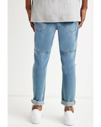 Forever 21 | Blue Paneled Slim Fit Jeans for Men | Lyst