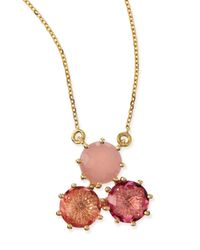 KALAN by Suzanne Kalan | Multi-stone Pink Cluster Pendant Necklace | Lyst