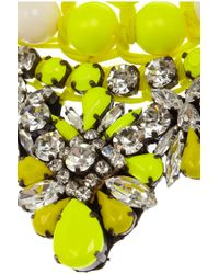 Shourouk | Yellow Theresa Swarovski Crystal Necklace | Lyst
