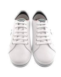 Fred Perry White Kingston Leather Plimsolls for men