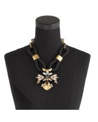 J.Crew | Black Corded Statement Necklace | Lyst