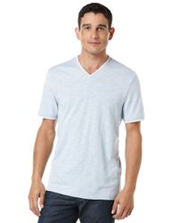 Perry Ellis | Blue Slub Stripe T-shirt for Men | Lyst