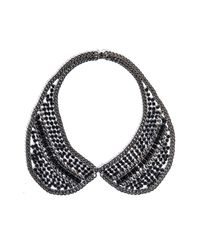 DANNIJO | Metallic Hilaria Crystal Collar Necklace | Lyst