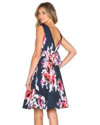 kate spade new york | Multicolor Hazy Floral Fit & Flare Dress | Lyst