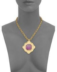 Stephanie Kantis | Metallic Ventana Light Amethyst Pendant | Lyst