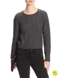 Banana Republic | Gray Factory Crop Sweater | Lyst