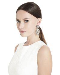 BCBGMAXAZRIA   Metallic Floral-stone Earrings   Lyst