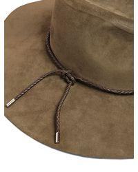 Emilio Pucci | Green Suede Large Brim Hat | Lyst