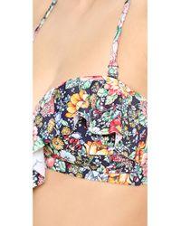 Zimmermann - Multicolor Floral Frill Bikini Top - Lyst