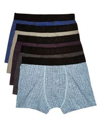 River Island - Multicolor Mixed Pattern Trunks Pack for Men - Lyst