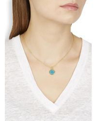 Marc By Marc Jacobs - Blue Turquoise Enamel Disc Pendant Necklace - Lyst